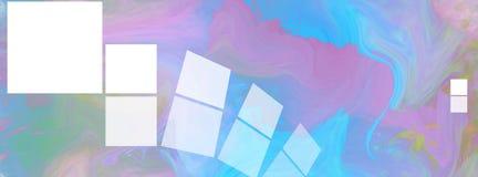 Краска предпосылки цвета зимы в фиолетовом и голубом Стоковое Фото