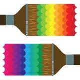 Краска 2 радуги щетки Стоковые Изображения RF