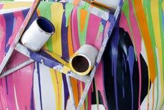 краска разлила Стоковая Фотография RF