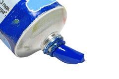 краска синего масла стоковые фотографии rf