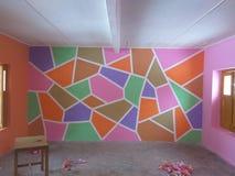 краска стены школы стоковое изображение