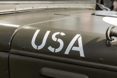 Краска США на клобуке Стоковые Фотографии RF