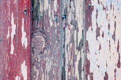 Краска текстуры шелушения на старой выдержанной древесине текстуры - текстурируйте предпосылку, поверхность текстуры старых дерев Стоковое Изображение