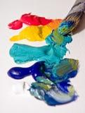краска художников стоковая фотография rf