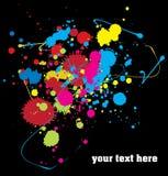 краска цвета предпосылки брызгает Стоковые Фотографии RF
