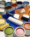 краска цветов чонсервных банк Стоковое фото RF