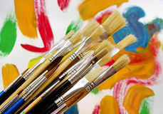 краска цветов щеток стоковая фотография rf