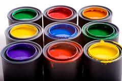 краска чонсервных банк стоковое изображение