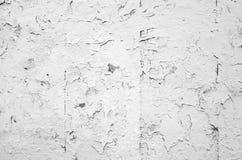 Краска шелушась белизны Cracked на старой каменной стене Стоковая Фотография RF