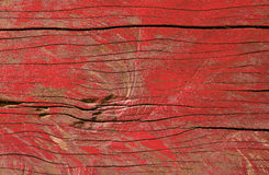 краска шелушения красного цвета на винтажной деревянной текстуре предпосылки таблицы Стоковое Фото