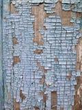 Краска шелушения на текстуре стены безшовной Картина деревенского голубого материала grunge Стоковая Фотография RF