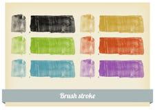 Краска щетки брызгает вектор Стоковые Изображения RF