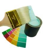 краска щетки aqua Стоковая Фотография RF