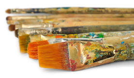 краска щеток Стоковые Изображения