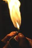 Краска для пульверизатора + пламя Стоковое Изображение RF