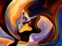 Краска ofпоцелуя внутренняя Стоковое фото RF