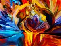 Краска ofпоцелуя внутренняя Стоковые Изображения