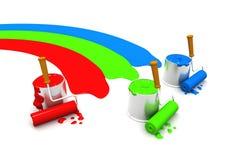 краска rgb чонсервных банк Стоковые Фотографии RF