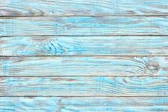 Краска teal деревянного стола, затрапезная деревянная поверхность Старая текстура для Стоковые Фотографии RF