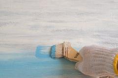 Краска Whiteboard в голубом цвете Стоковые Изображения