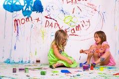 Краски детей стоковые изображения rf