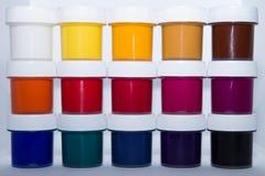 Краски для творческих способностей ` s детей стоковая фотография rf