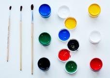 Краски и щетки Стоковые Изображения RF