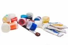 Краски и щетки Стоковые Фотографии RF