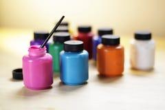 Краски различных цветов Стоковые Изображения