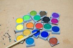 Краски студии искусства Стоковая Фотография
