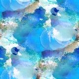 Краски текстуры воды картины Bokeh seamles красочной голубые абстрактные Стоковые Фото
