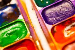 краски установили акварель Стоковое Изображение