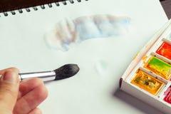 краски установили акварель Стоковые Изображения RF