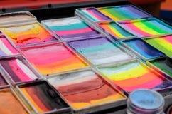 краски установили акварель Стоковые Фотографии RF