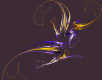Краски фрактали красочные на черноте иллюстрация штока