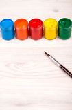 Краски цвета с взглядом портрета щетки Стоковое Изображение
