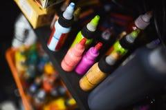 Краски для татуировать Стоковое Изображение