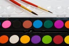 краски 2 щеток Стоковое Фото