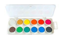 Краск-box вод-цвета крупного плана стоковое фото rf