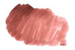 Красная абстрактная краска руки искусства акварели на белой предпосылке стоковые изображения rf
