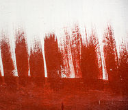 Красная абстрактная предпосылка краски Стоковое Изображение