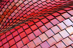 Красная абстрактная предпосылка отверстия щетки Стоковая Фотография
