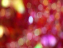 Красная абстрактная blured предпосылка вращения bokeh света сток-видео