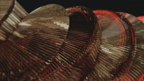 Красная абстракция на черной предпосылке Стоковое Фото