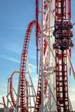 Красная американская горка Стоковое Изображение RF
