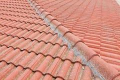 красная ая черепицей крыша Стоковые Изображения RF
