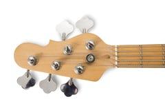 Красная басовая гитара изолированная против белой предпосылки стоковая фотография rf
