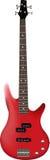 Красная басовая гитара Стоковые Изображения RF