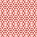 Красная безшовная картина снежинок Снег вектора Стоковое Фото