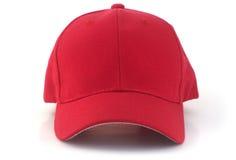 Красная бейсбольная кепка Стоковые Изображения RF